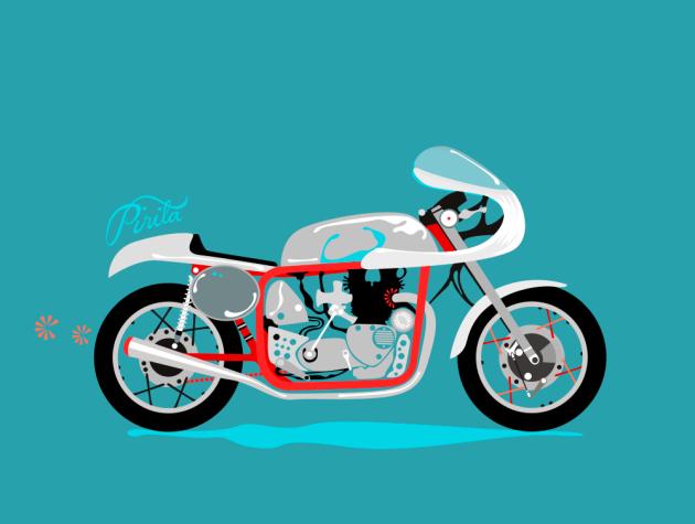 Pirita Tolvanen Motorcycle Stories 03 Red Pipe